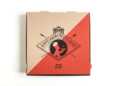 Pizza Box concept restaurant branding graphic  design screenprint lines monoline pizza box packaging
