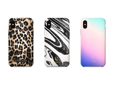 "Phone Cases ""Wild"" techno product design graphic graphic design gradient marbling technique leopard iphone case phone case"