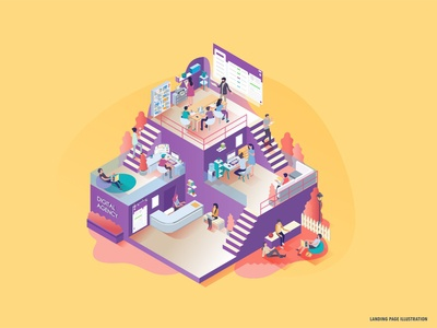 Landing Page illustrations | Digital agency