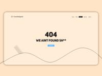 CrackleSpark 404 page #DailyUi
