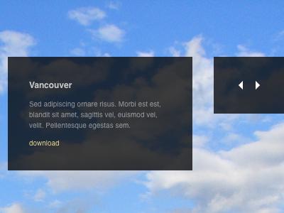 Slideshow theme virb widescreen slideshow top right corner