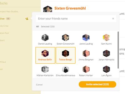 Kvackchat invite users
