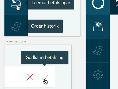 some elements for a dashboard for payment orders