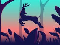joyness of a wild guy - A mule deer