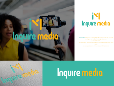 Inquire Media media group new brand branding brand logo designs media logo