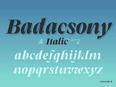 Badacsony typefamily font typography typeface