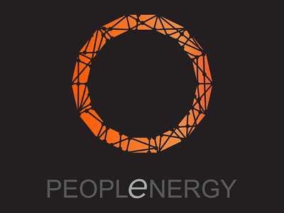 The People Energy branding logo design brand identity logo