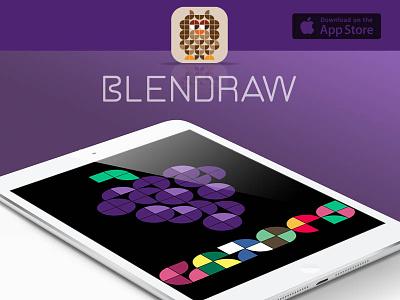 Blendraw iOS app ui ux design calligraphy logo design typography typeface logo ios game mobile app