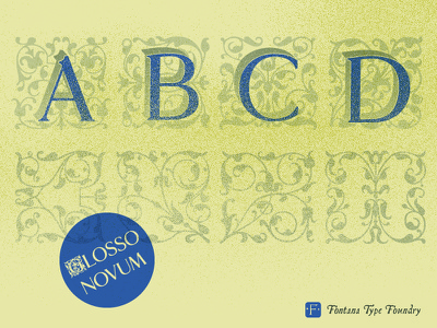 Glosso Novum type design type typeface typography