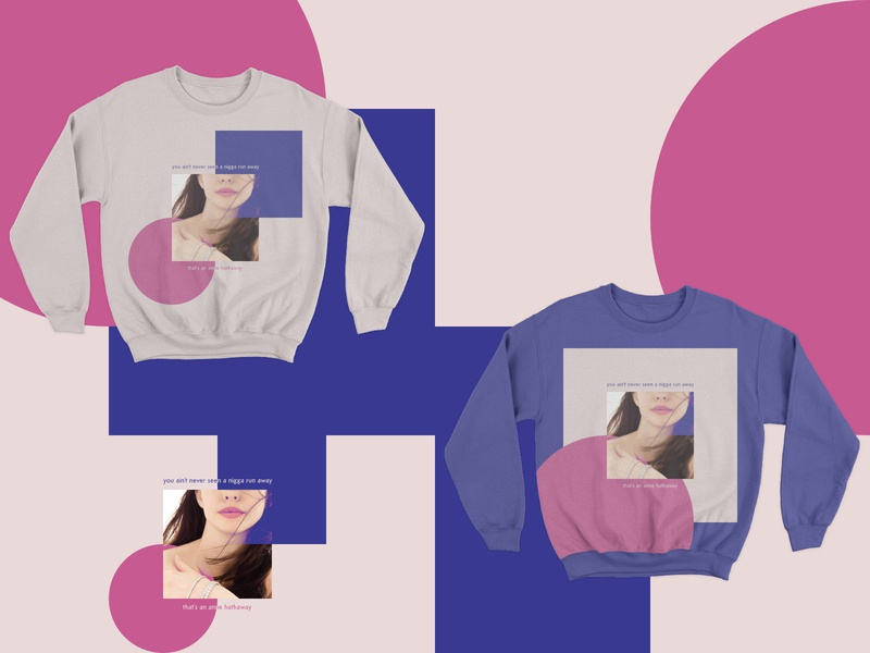 Backward Books shapes sketch azizi gibson anne hathaway apparel forms simple minimal style fashion purple pink square circle sweatshirt