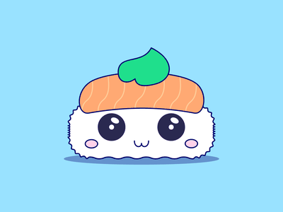 Sushi avatar flat design illustration vector everyday