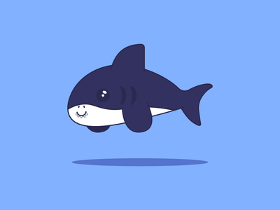 Shark avatar flat design illustration vector everyday