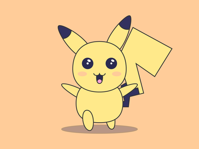 Pika flat design avatar illustration vector everyday