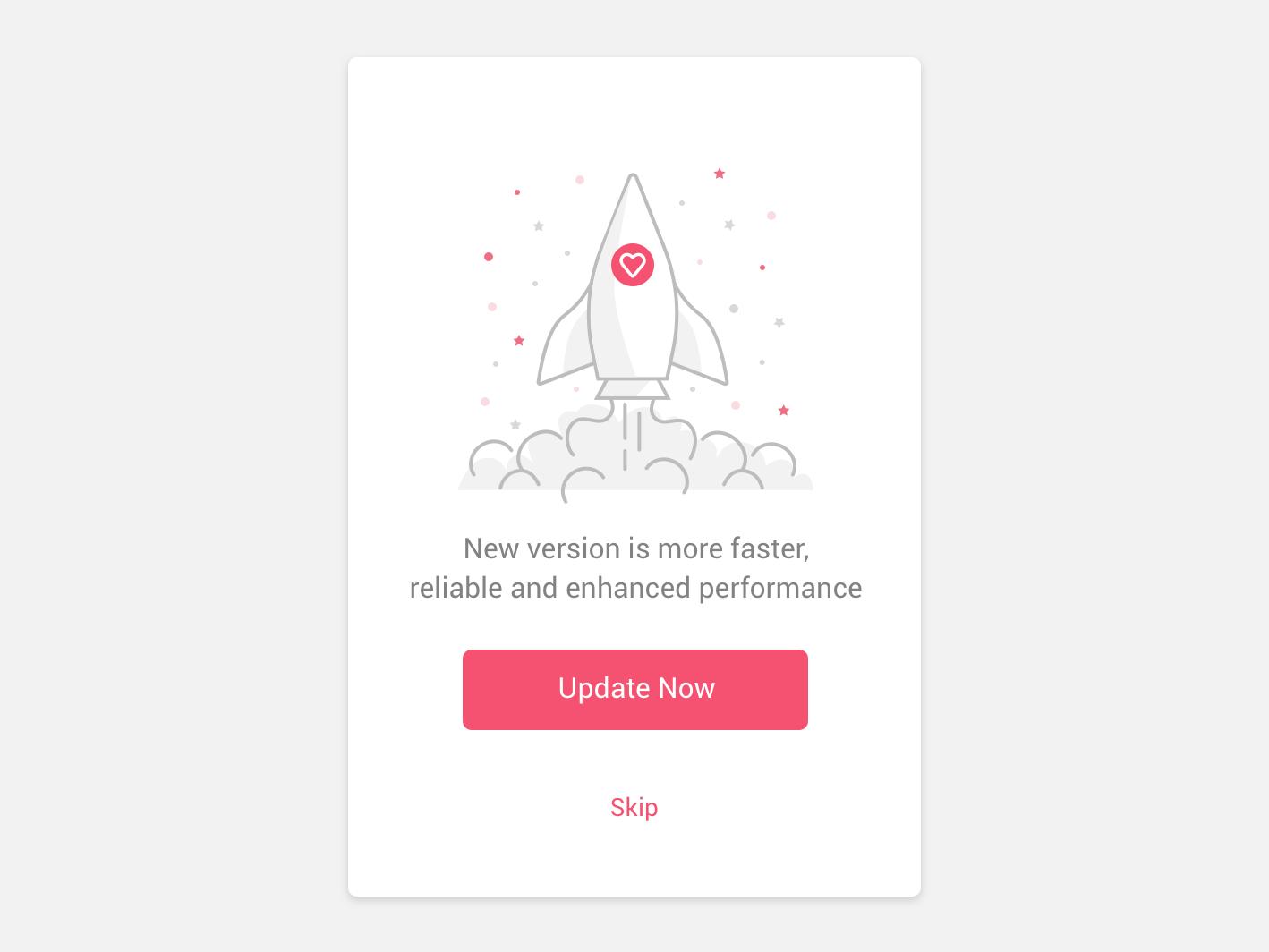 Rocket modal typography app ux branding vectoricon icondesign vectorillustration icon vector logo ui illustration animation rocket update force