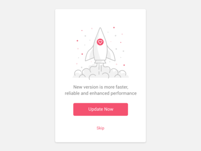 Rocket modal typography app ux branding vectoricon icondesign vectorillustration icon vector logo ui illustration animation rocket update force