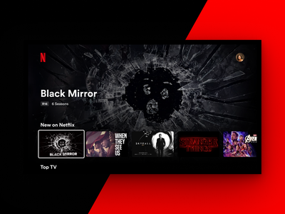 Netflix Apple TV Landing Page Concept ui design figma principle tv app apple design tv video uidesign ui apple tv apple netflix