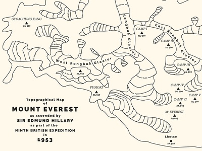 Topographical Map of Everest