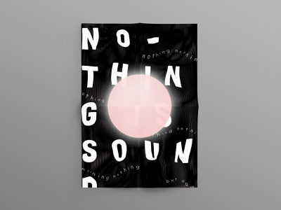 No–Thing is Sound. Poster distorted warped adobe illustrator christian brutalism brutalist typographic poster black abstract design typography poster photoshop abstract