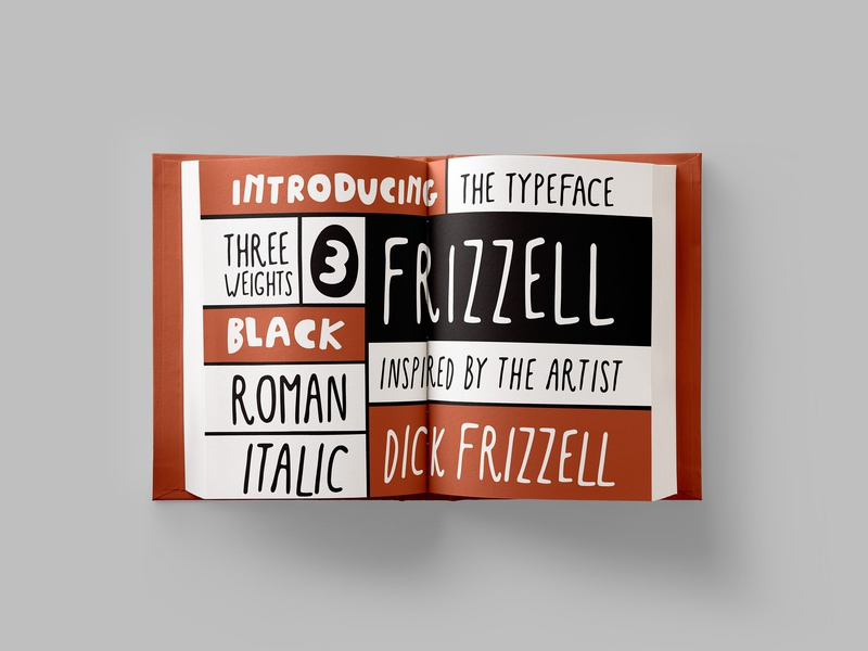 Dick Frizzell Type Specimen Book hand leterring sign book design hand-rendered fonts typeface design font design typography hand-drawn aotearoa typeface type dick frizzell frizzell new zealand font