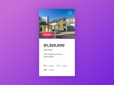UI Card Design | Property Website gradients gradient modern design card google fonts webdesign real estate modern ui modern house bold purple gradient purple ui card card design uiux ui