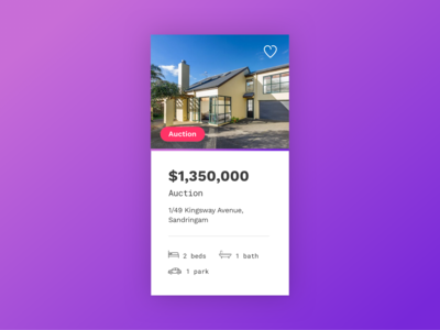 UI Card Design | Property Website