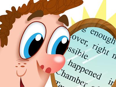 Spots for Scholastic Scope joe rocco illustration whimsical humor childrens publishing digital
