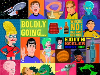 Star Trek Wallpaper (Sci-Fi Series) star trek whimsical digital joe rocco sci-fi wallpaper