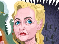 Hillary Clinton and Bernie Sanders: Game of Thrones (in color)