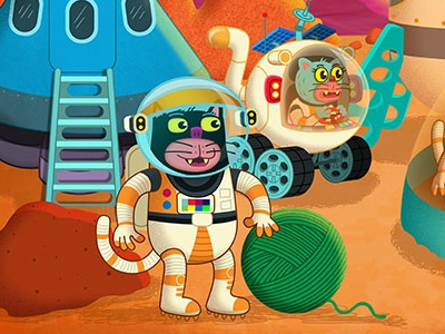 Cats On Mars science fun humor children kids mars cats