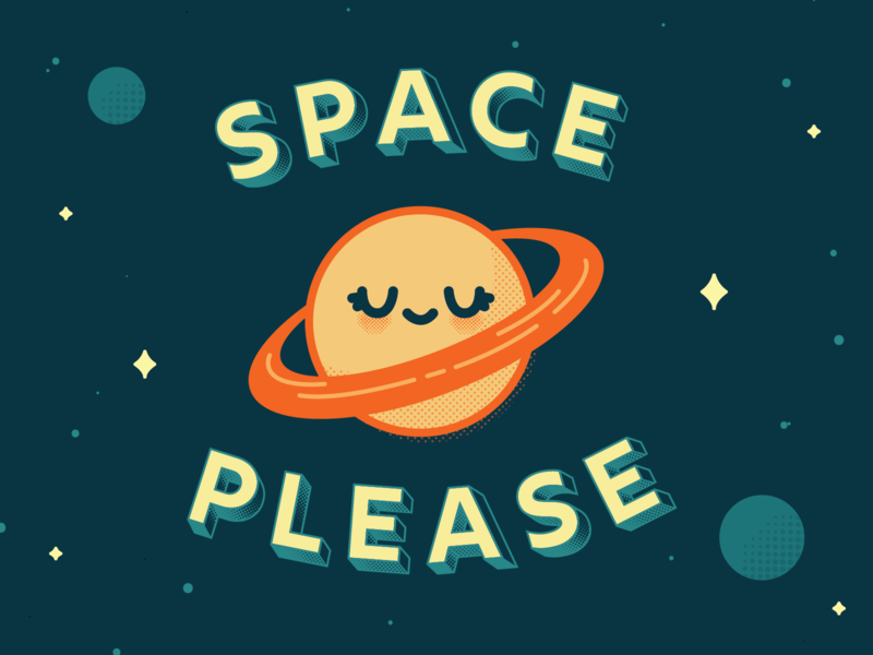 Space Case vector illustration