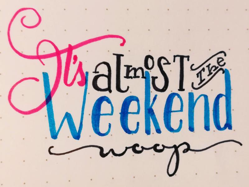 Almost the weekend handlettering ligatures