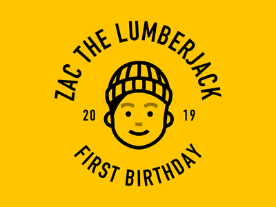 Lumberjack Birthday lumberjack illustration flannel birthday