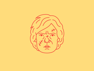 Tyrion Lannister Portrait line art portrait vector illustration peter dinklage game of thrones lannister tyrion