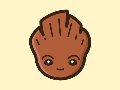 Cute Baby Groot Icon