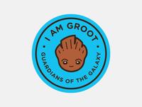I Am Groot Badge