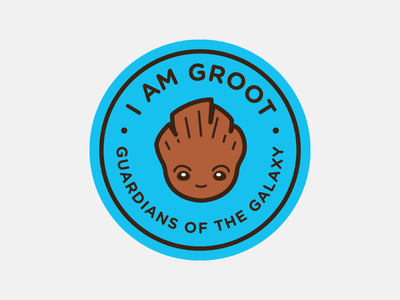 I Am Groot Badge guardians of the galaxy kawaii cute badge baby groot i am groot groot