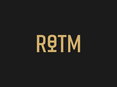 ROTM Logo gold black icon microphone branding identity logo