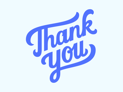 Thank You Lettering bezier vector hand lettering thank you lettering