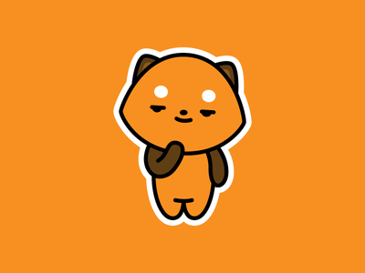 Riley The Red Panda Sticker emoji illustration character design riley red panda stickers