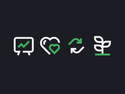 SEO Icons line icon arrows leaf results heart icons seo