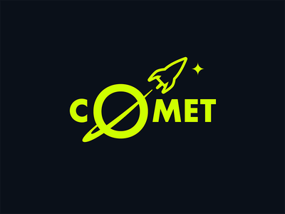 Daily Logo Challenge - Day 1 - Rocket Ship space comet ship rocket daily logo challenge