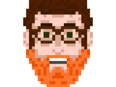 8-bit Self Portrait graphic design graphic portrait self-portrait drawing digital art illustration pixel 8-bit