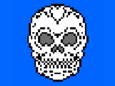 8-bit Skull graphic design art graphic design digital-art digital drawing illustration pixel-art pixel 8-bit skull