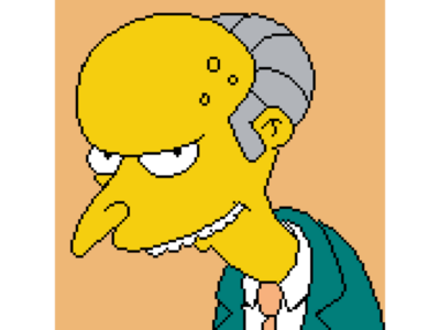 """Excellent!"" - Mr Burns pixel studio illustration simpsons yellow the simpsons monty burns fire hd pixel art pixel nostalgia charles montgomery burns mr burns digital-art digital art digital cartoon art android 8-bit"