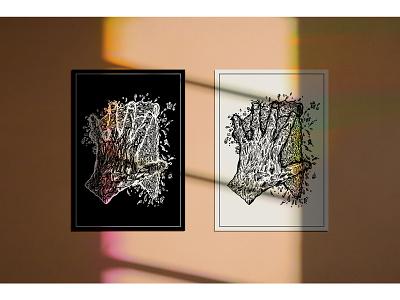 Designs in Situ (Frames & Posters) illustrator poster templates situations products mockups mockup layout illustration graphic design graphic drawing display digital design art adobe illustrator
