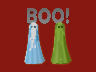 Boo! - Ghosts graphic art drawing digital illustration design graphic design adobe illustrator adobe illustrator boo ghosts ghost