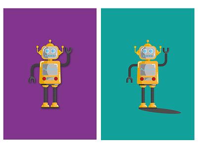 RobotCards character robot bigleebrink leeoconnor-art lee oconnor art digital digital art digital drawing illustration graphic design graphic design adobe illustrator illustrator leaving card together cards leaving card