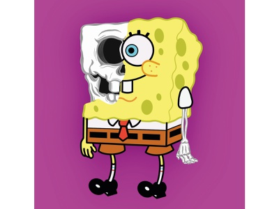SpongeBob SkullPants digital illustration nickelodeon apple pencil 2 applepencil procreate 5 ipad pro procreate ipad pro procreate squarepants spongebob squarepants spongebob cartoon colour drawing digital designer digital design digital painting digital drawing drawing skull