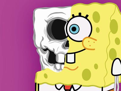 SpongeBob SkullPants digital illustration nickelodeon apple pencil 2 applepencil procreate 5 ipad pro procreate ipad pro procreate squarepants spongebob squarepants spongebob cartoon colour drawing digital designer digital design digital painting digital drawing drawing skull