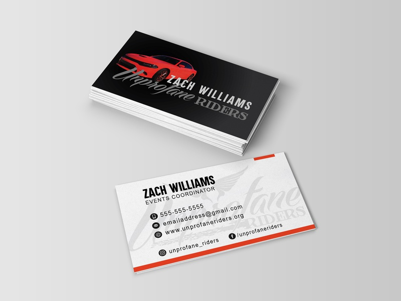 Car Club Business Cards By Mackenzie Poth Dribbble Dribbble